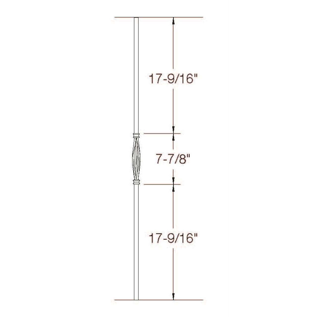 2GR18 16mm Round Slimline Basket, Tubular Steel Dimensional Information