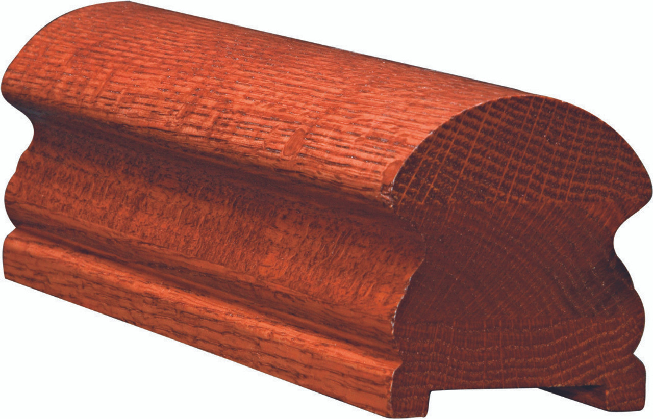 6519P Yellow Pine Plowed Handrail
