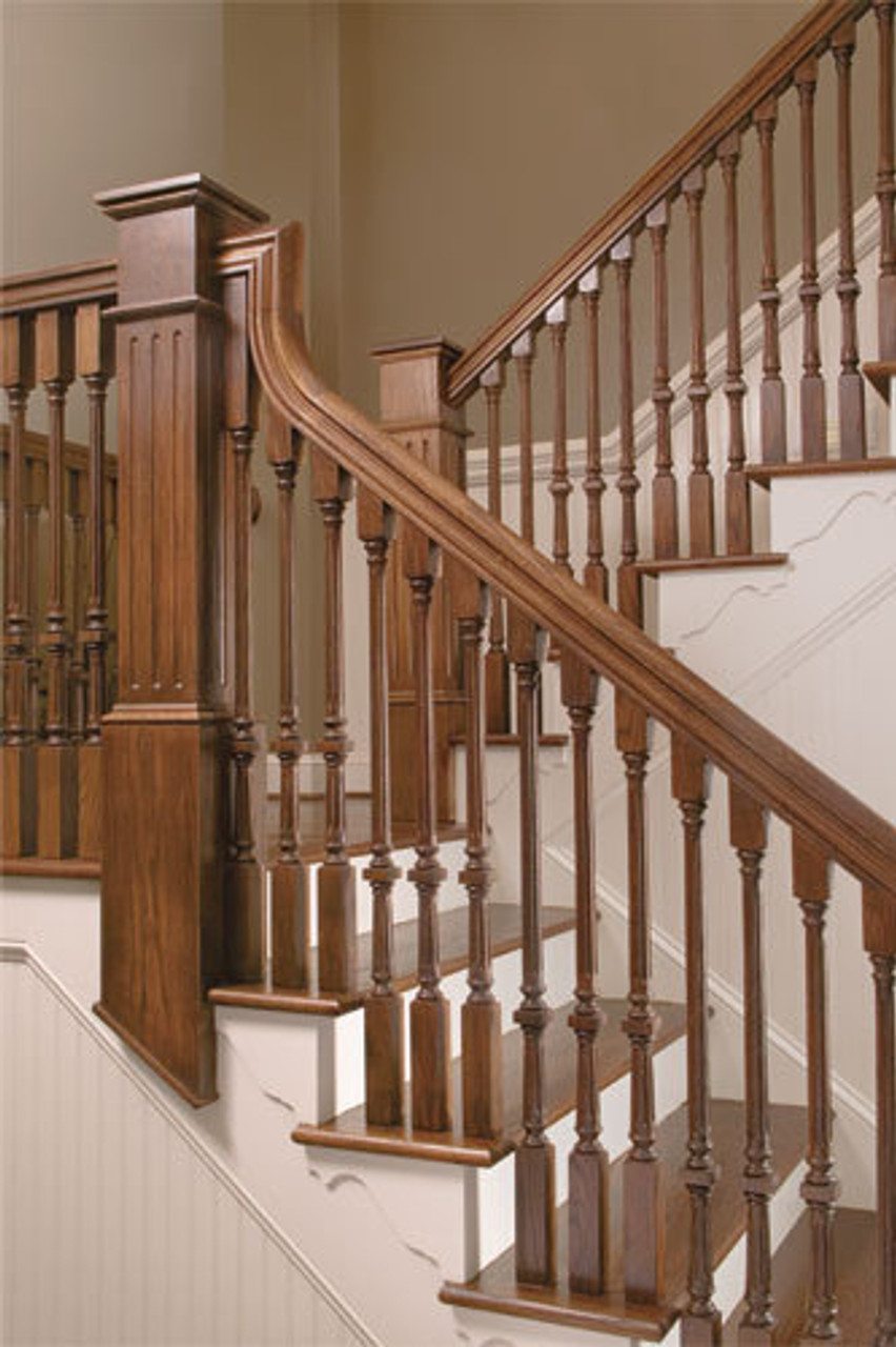 """9005F Fluted 39"""" The Williamsburg Square Top Baluster"""