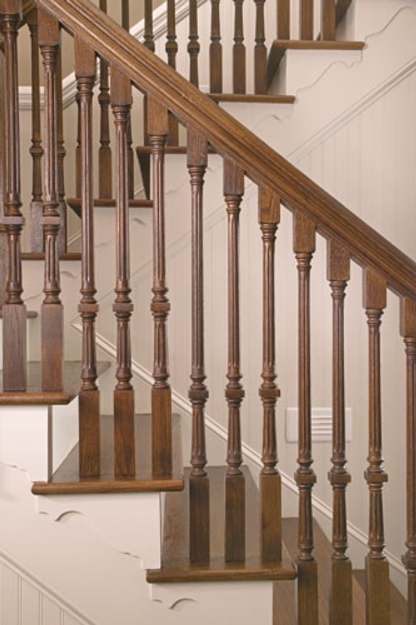 """9005F Fluted 44"""" The Williamsburg Square Top Baluster"""