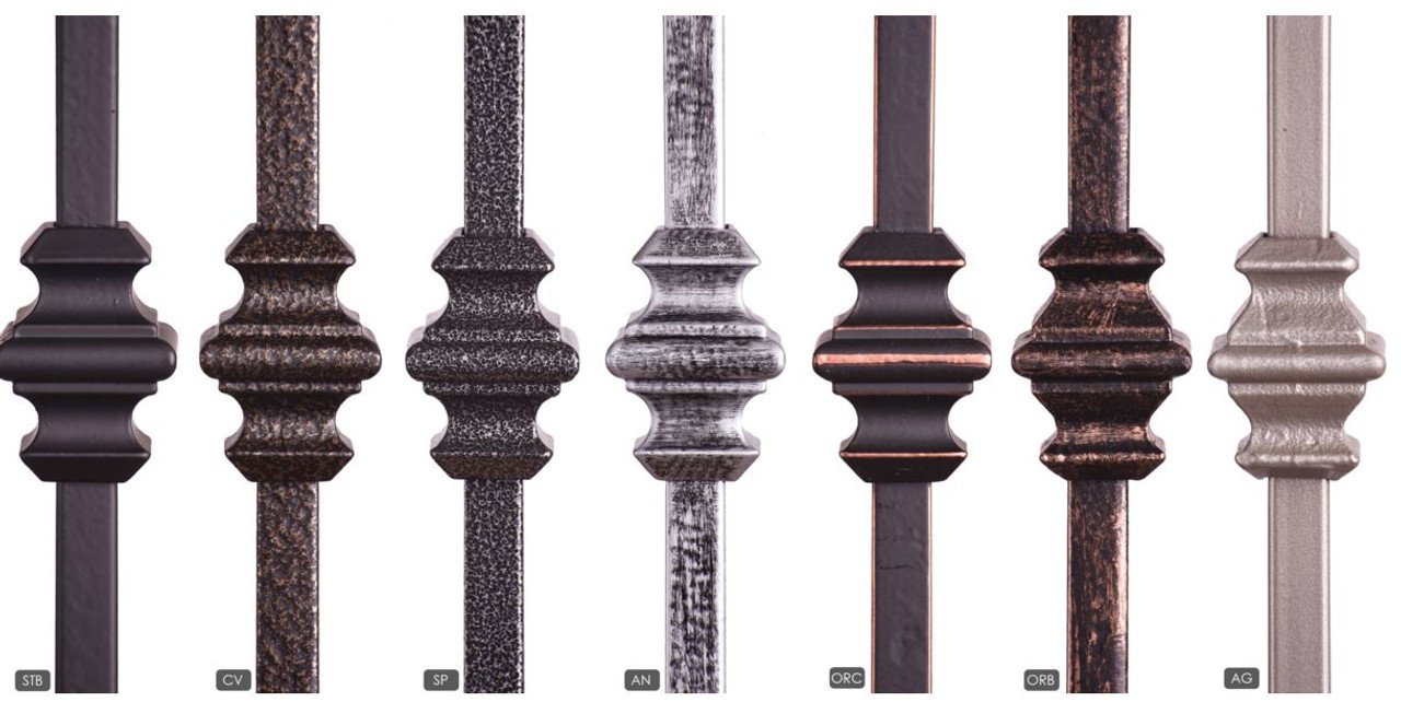 Available Powder Coatings.  Note:  Antique Nickel only available in solid.