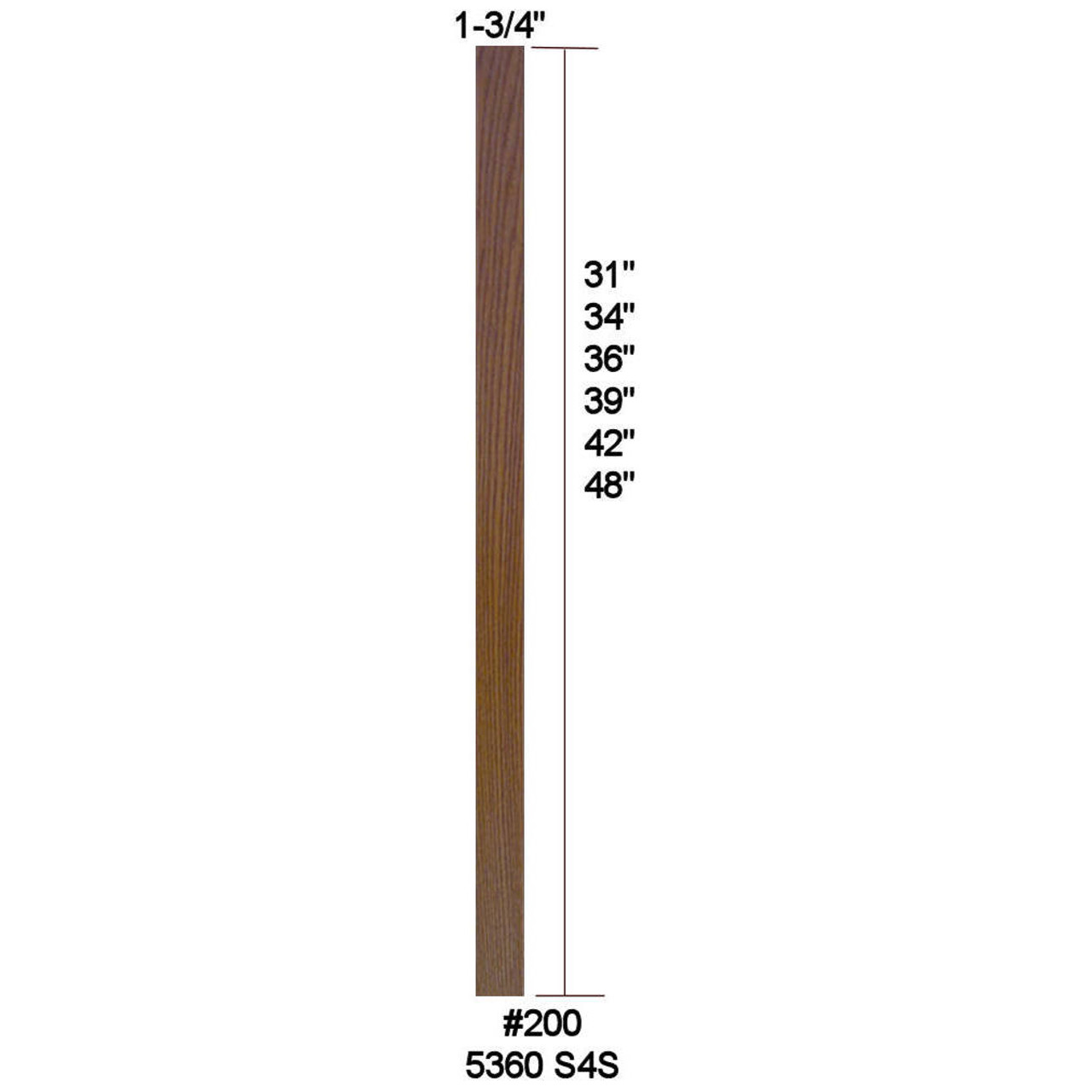 """5360 (200) 31"""" S4S Baluster"""