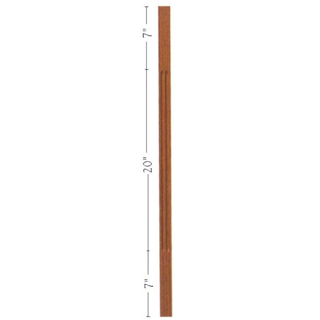 """F-5034 34"""" Fluted S4S Contemporary Baluster"""