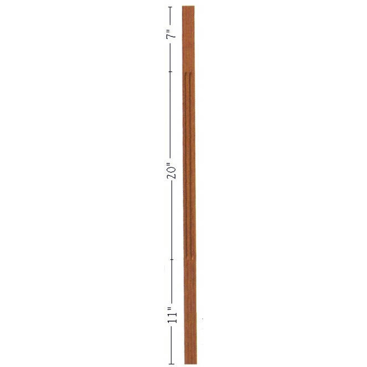 "F-5038 38"" Fluted S4S Contemporary Baluster"