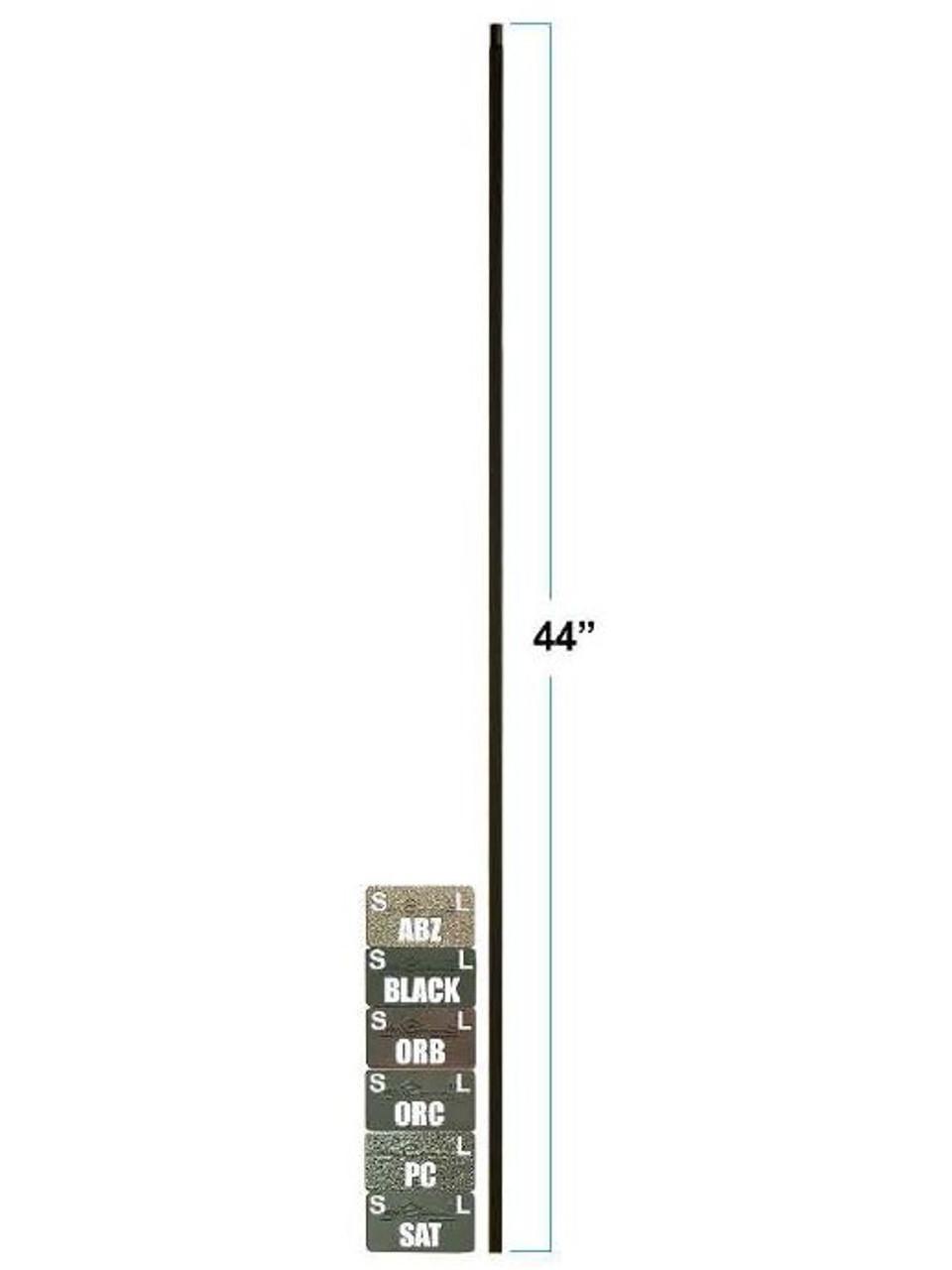 2555-T Plan Square Bar Tubular Steel Versatile Baluster, 12mm