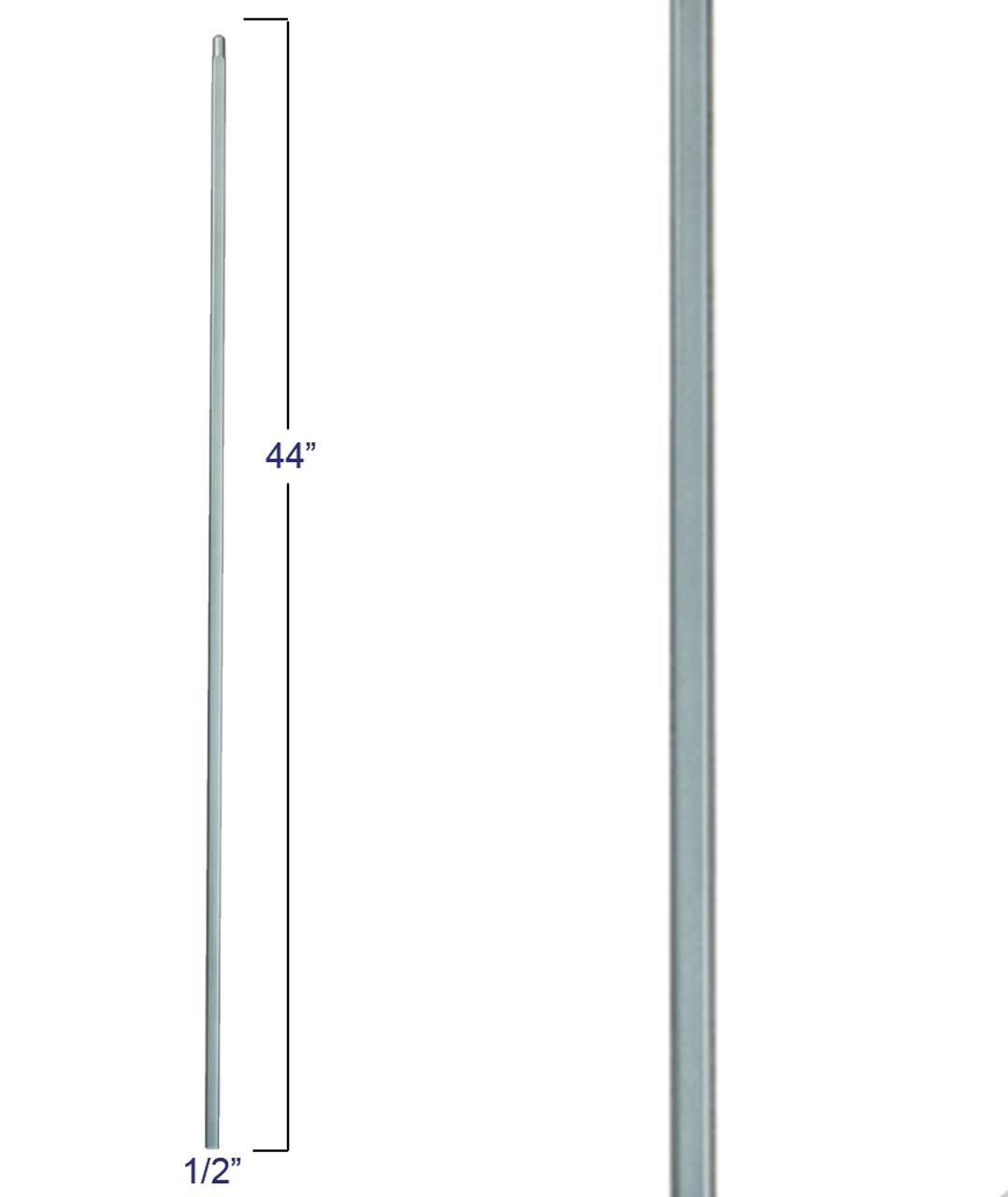 2555-T Plan Square Bar Tubular Steel Versatile Baluster, 12mm In Ash Gray