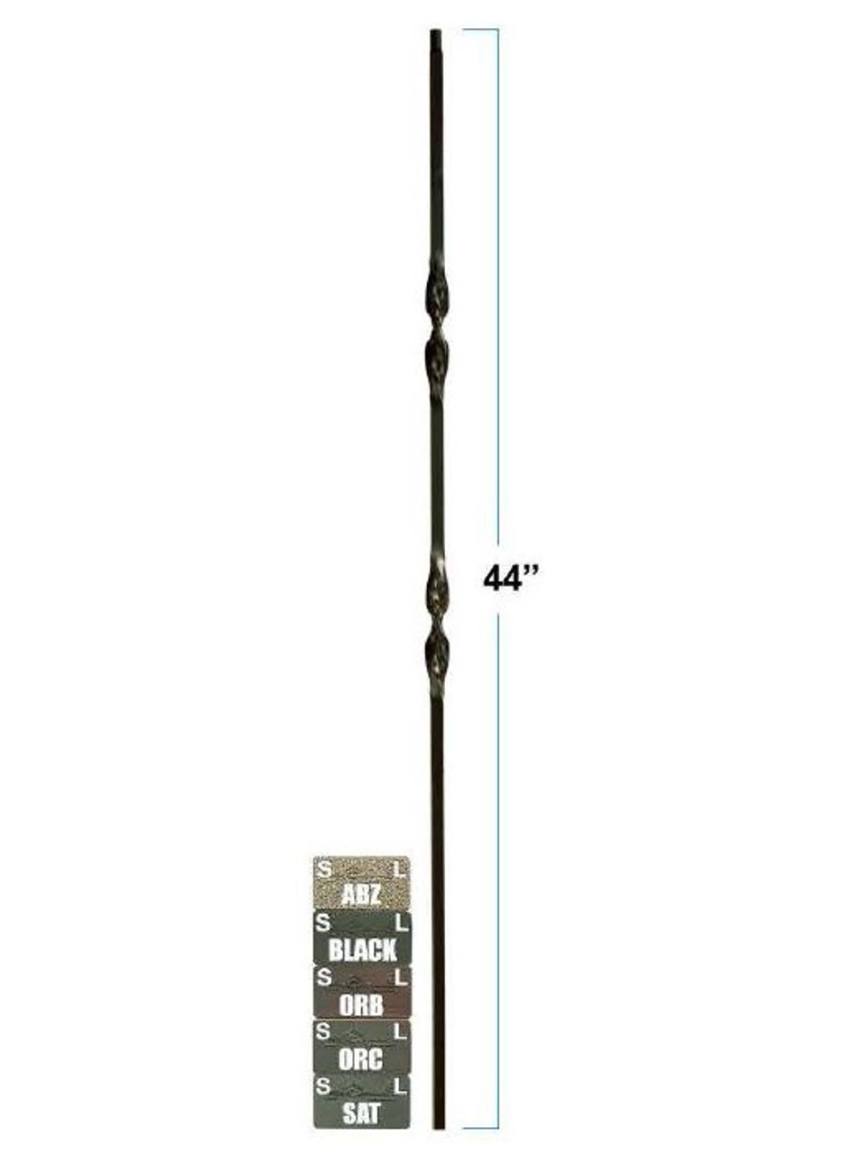 2561-LT Lite Hollow Tubular Steel Double Ribbon Baluster, 12mm