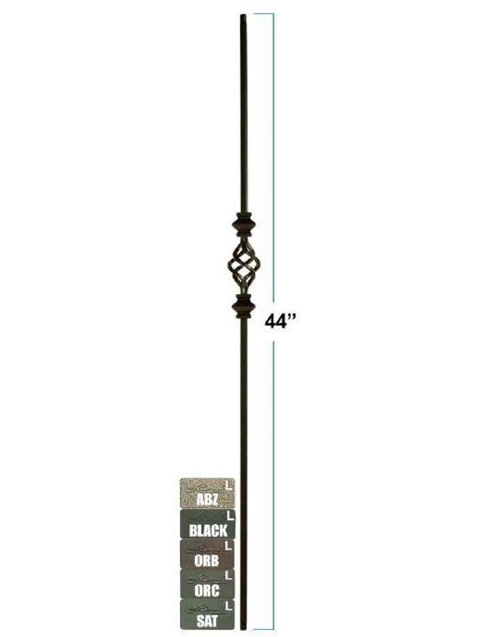 2558-LT Lite Versatile Single Basket with Double Knuckles Tubular Steel Baluster, 12mm