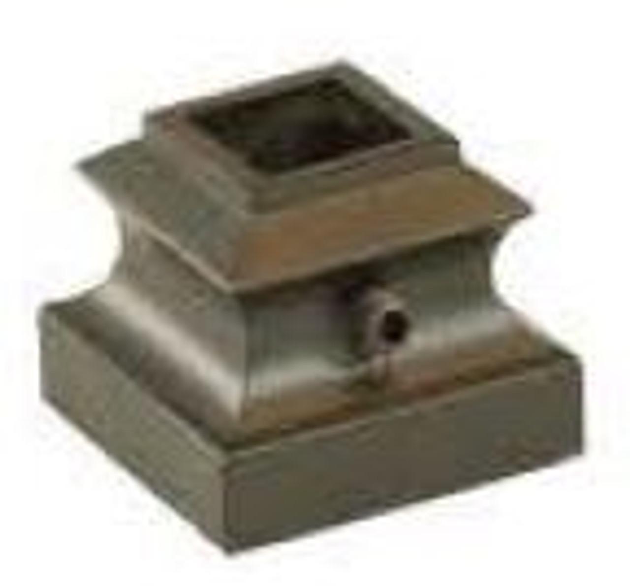 "2915-LT Lite Flat Shoe for 9-1/6"" Square Balusters, Aluminum"