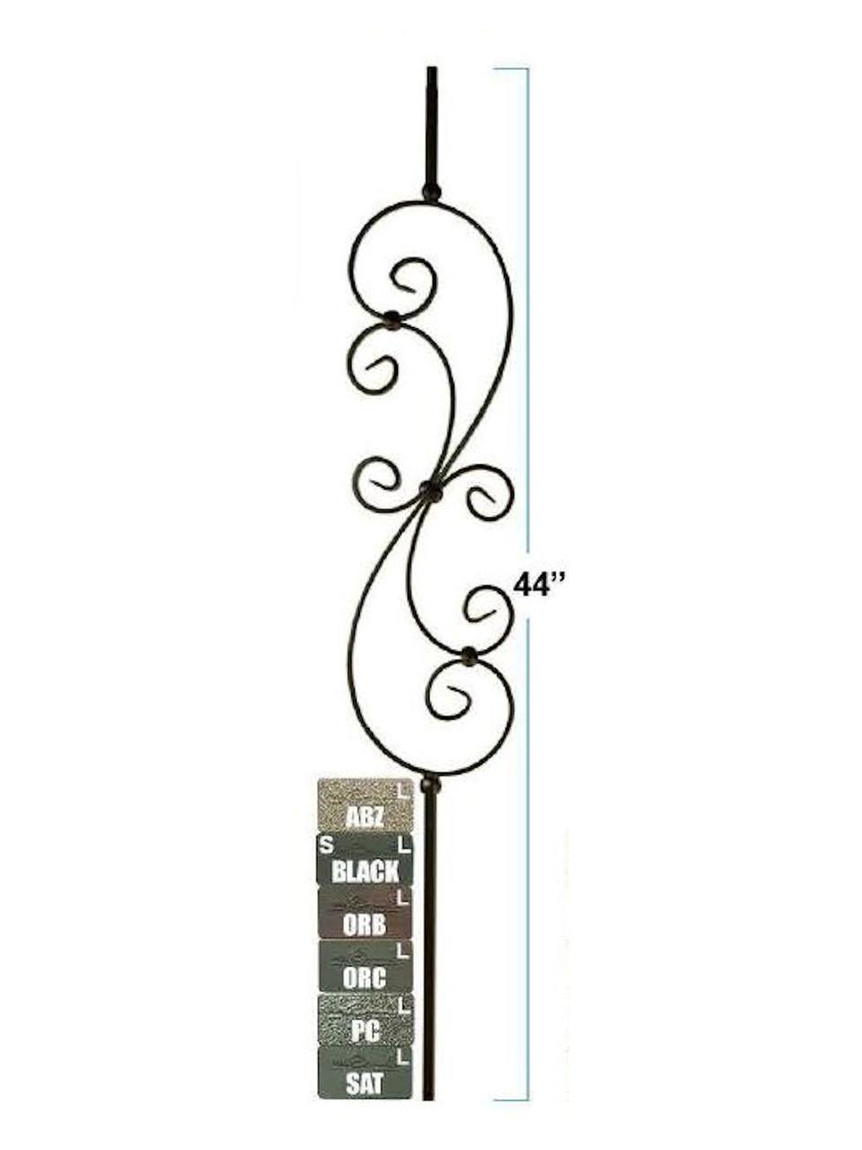 2580-LT Lite Large Tubular Steel Feather S-Scroll, 12mm