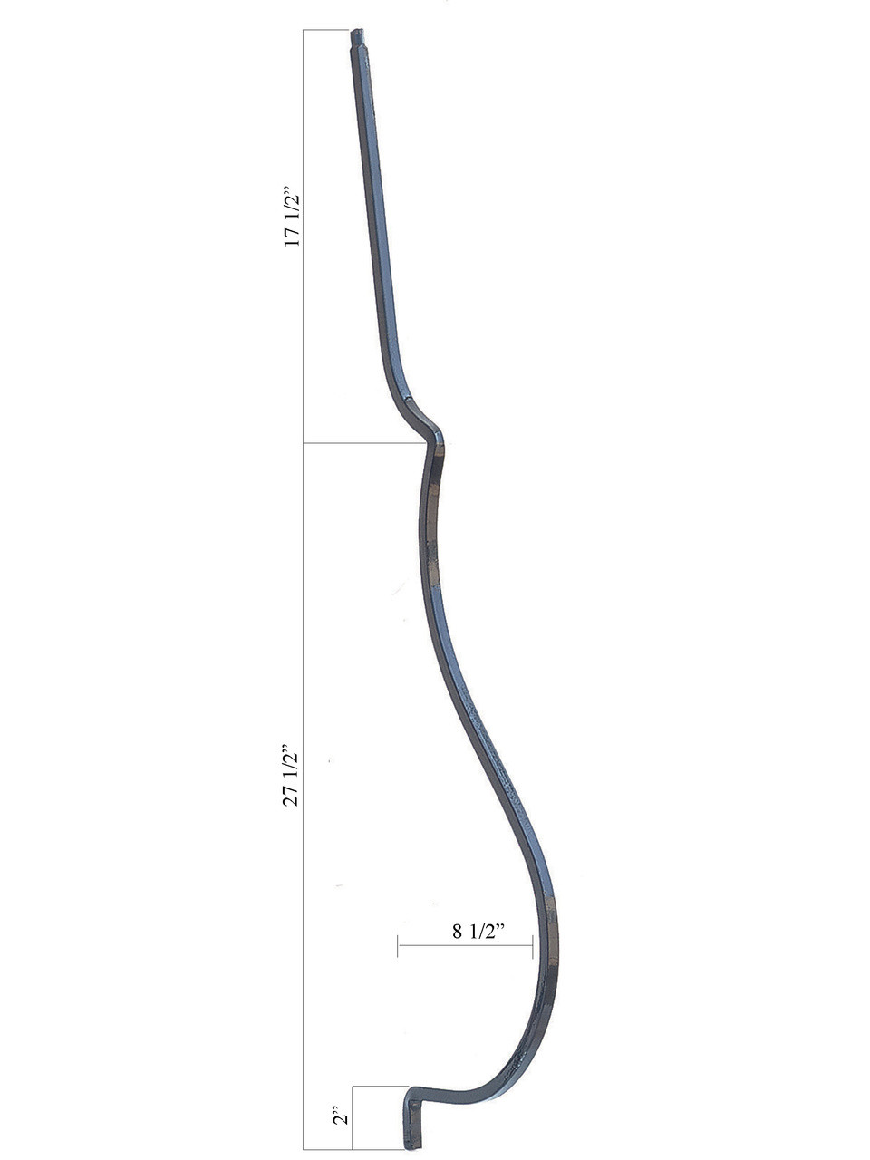 PC55/3 Smooth Plain Belly Baluster