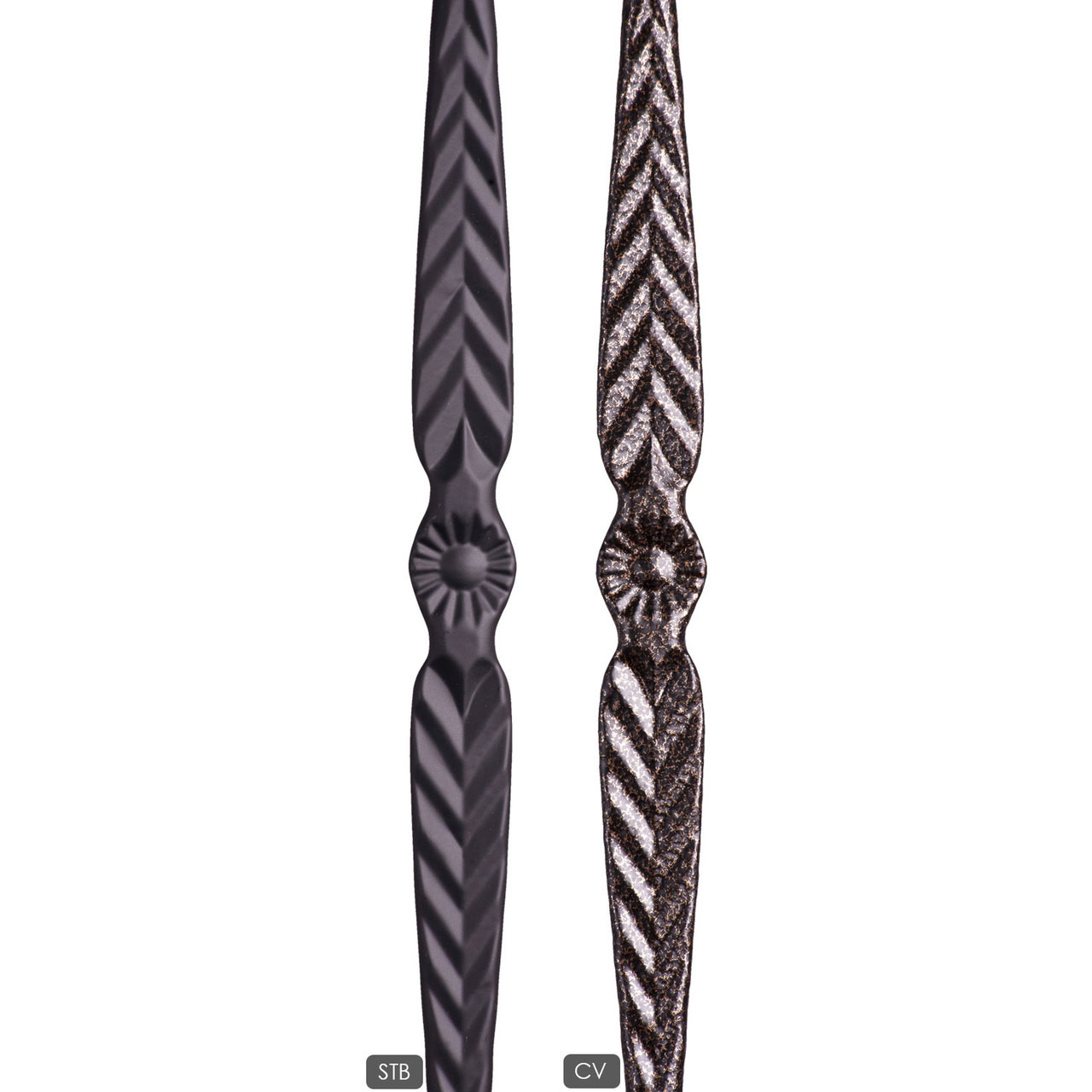 HF16.2.2 Straight Round Bar is available in satin black and copper vein powder coats.