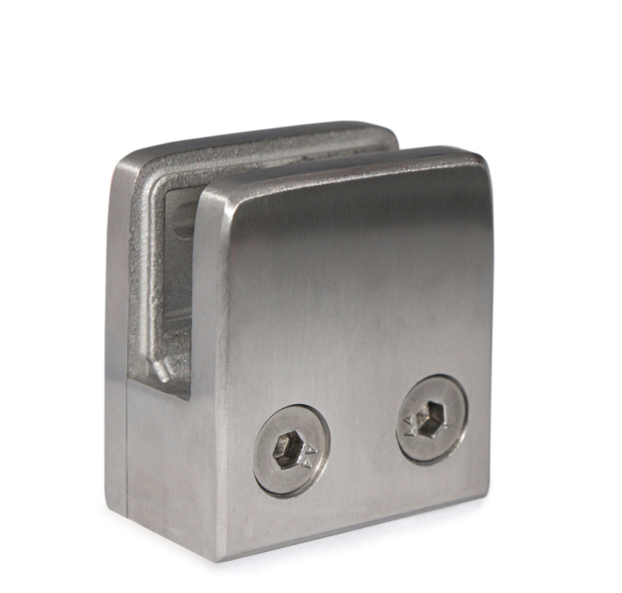 """E11100000 Stainless Steel Glass Clamp 1 3/4"""" x 1 3/4"""" x 1 3/32"""" for Flat Tube"""
