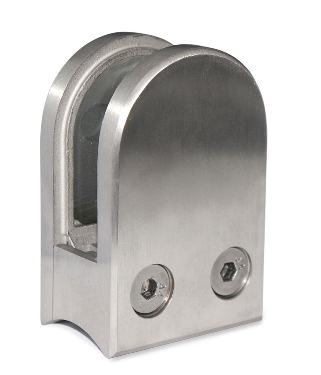 """E11404800 Stainless Steel Glass Clamp 1 3/4"""" x 2 31/64"""" for 1 7/8"""" Tube"""