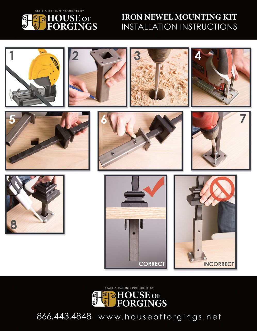 Newel Mounting Kit Instructions