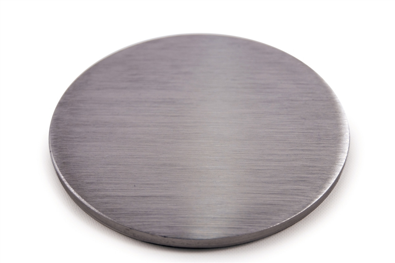 """E064 Stainless Steel Disc 3 5/32"""" Dia. x 5/32"""" Flat"""