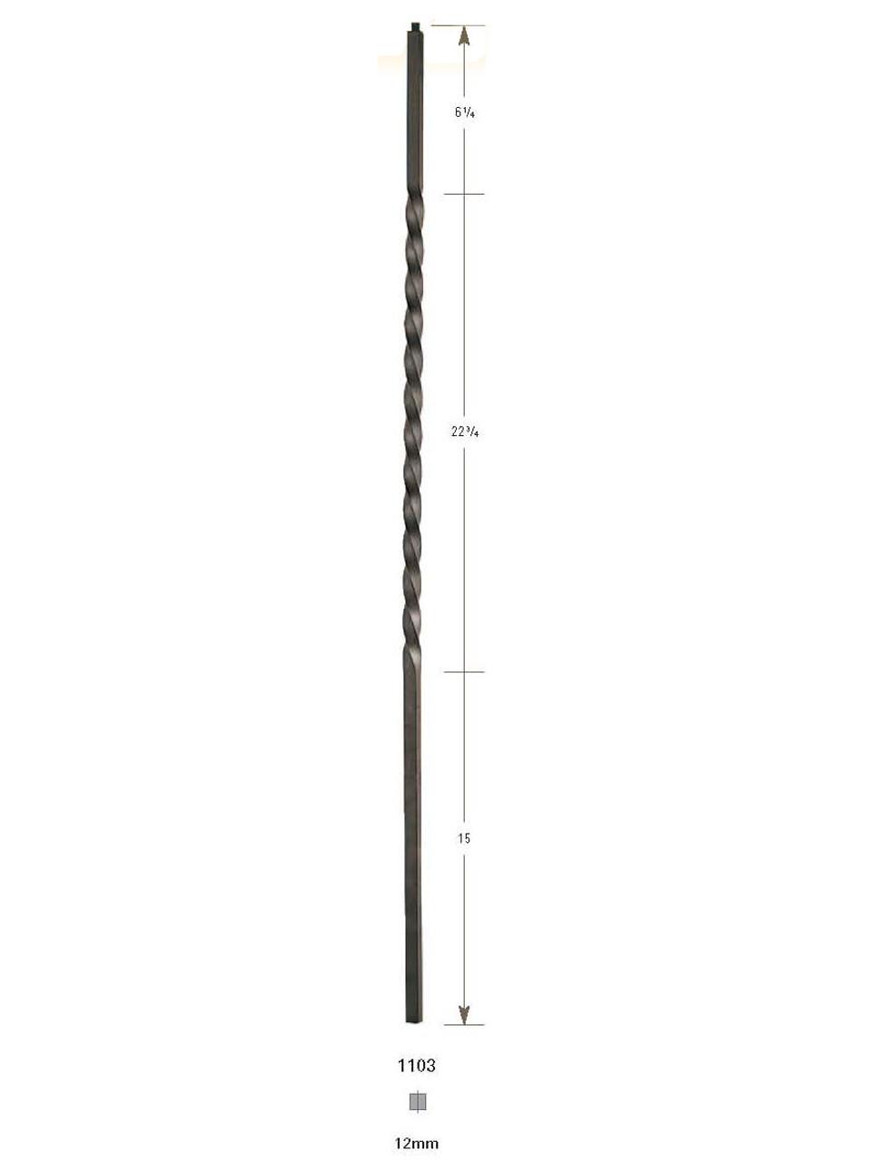1103 Long Twist Iron Baluster
