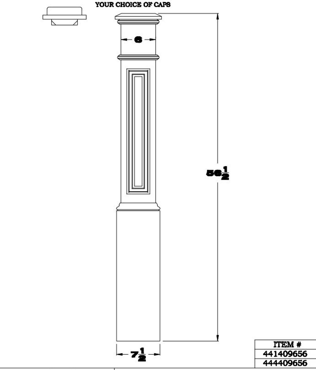 4096 Box Newel Cadd Drawing