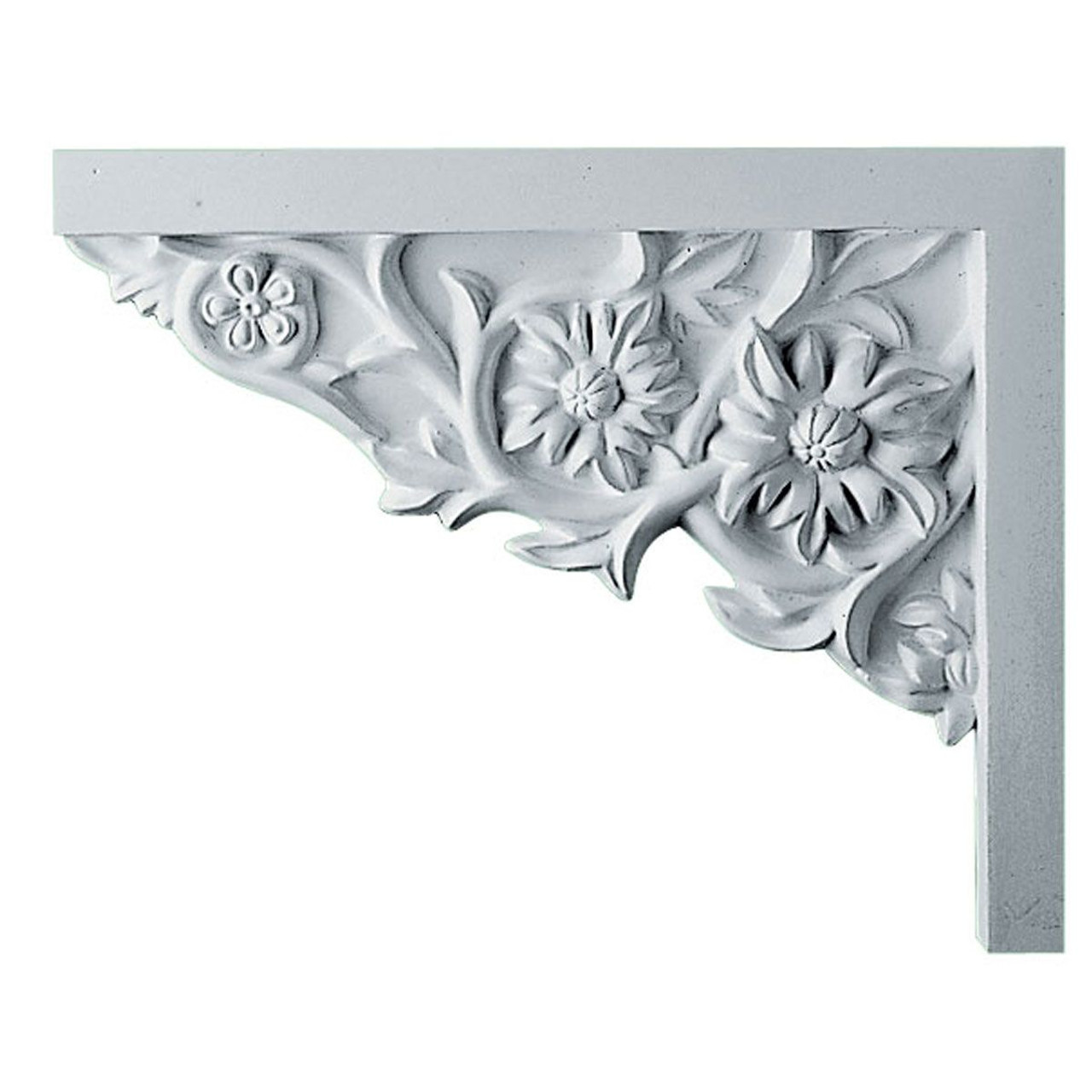SB09X07FL-L Left Hand Floral Small Stair Bracket