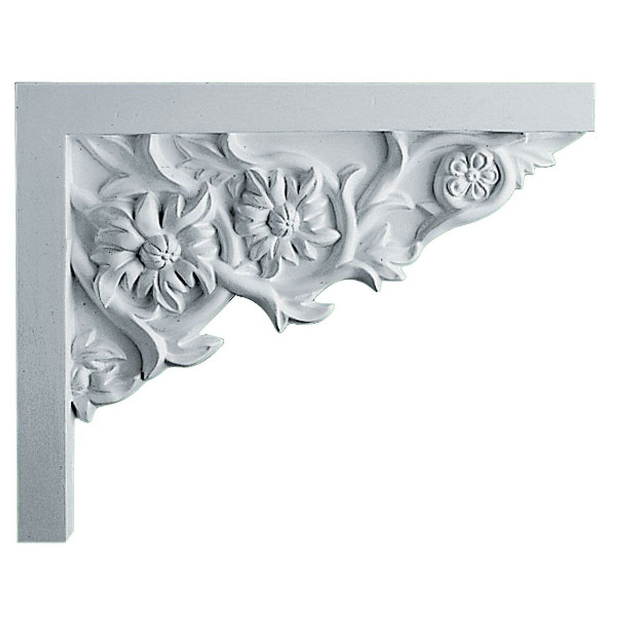 SB09X07FL-R Right Hand Floral Small Stair Bracket