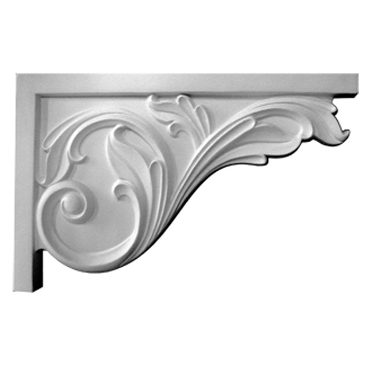 SB11X07AC-R Right Hand Large Acanthus Stair Bracket