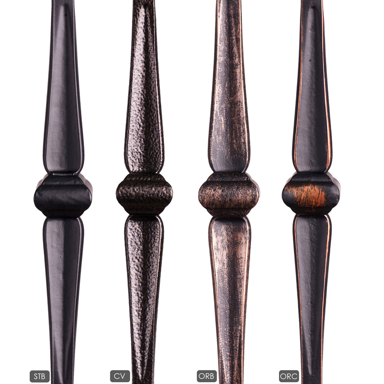 HF16.5.2 Single Knuckle Gothic Hammered Baluster Available Powder Coatings