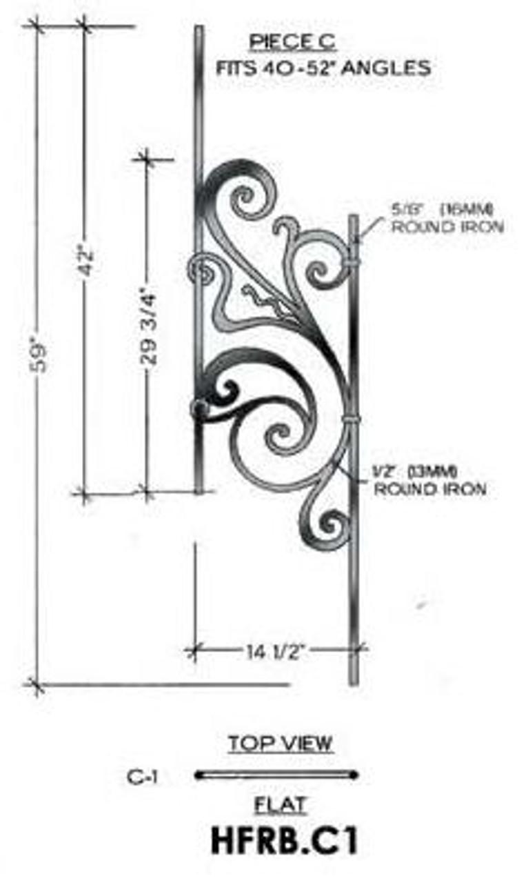 HFRB.C1 Rebecca Rake Iron Panel