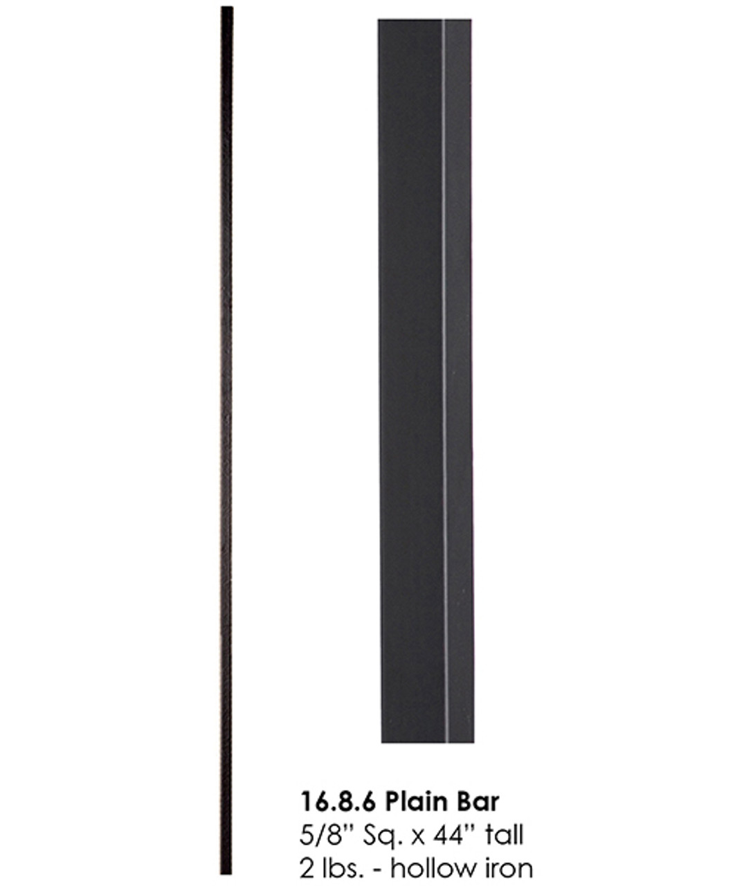 "HF16.8.6 5/8"" Square Tubular Steel"