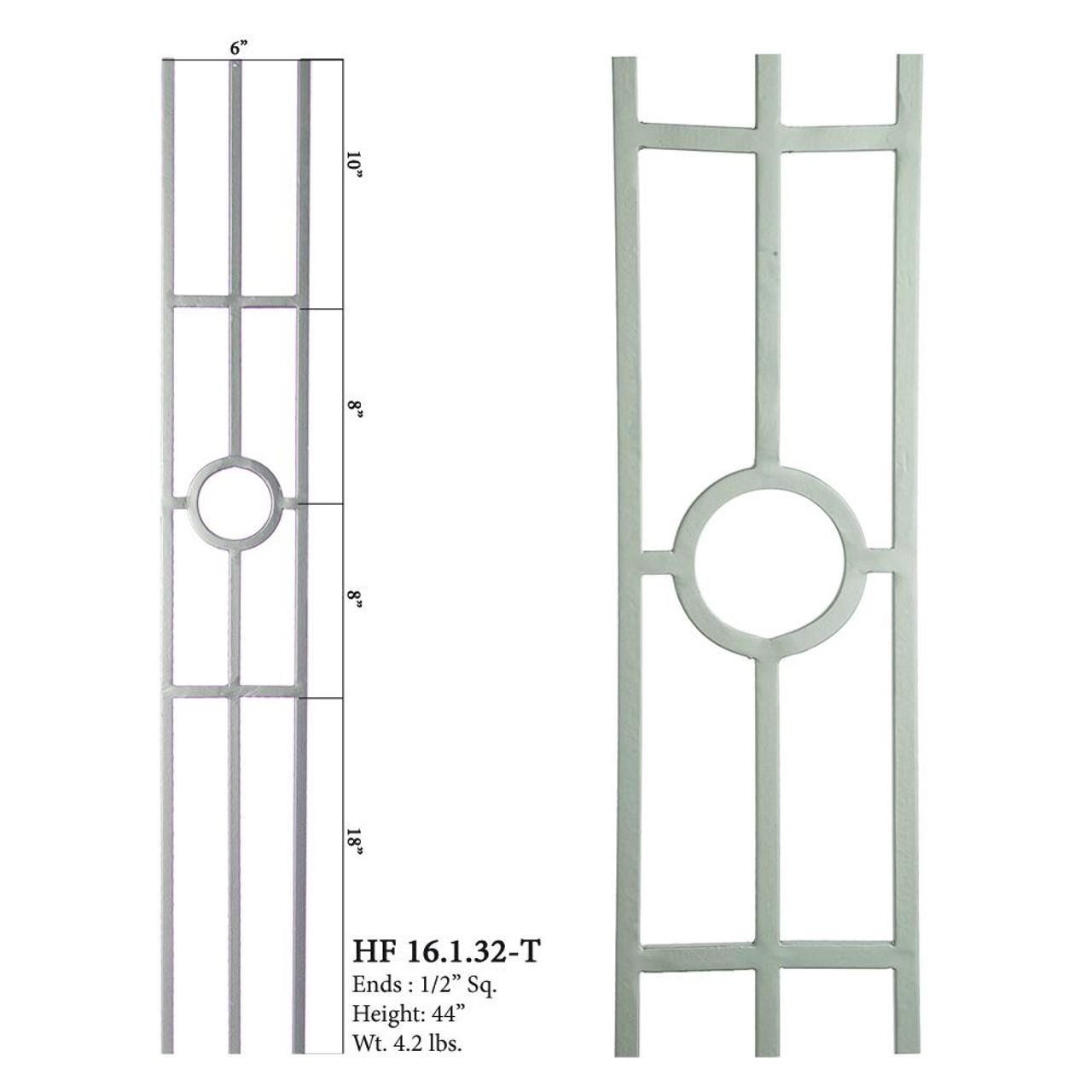 HF16.1.32-T Tubular Ash Gray 3-Leg Designer Panel