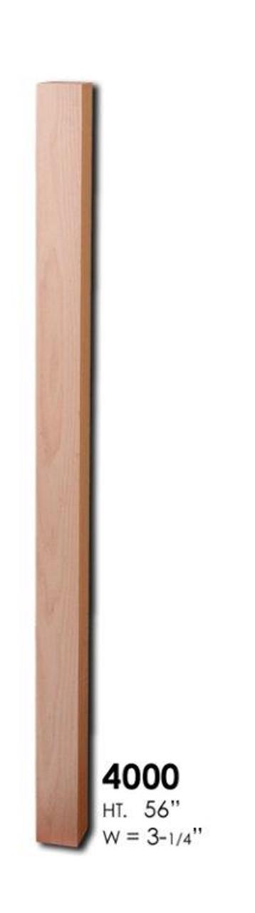 HF4000 S4S Red Oak Newel Post
