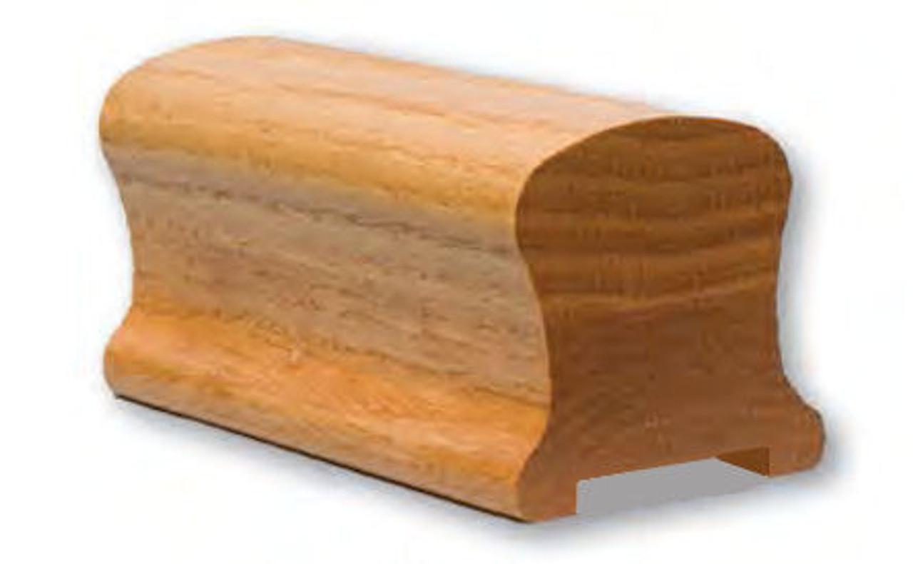 9100P Pine Plowed Handrail