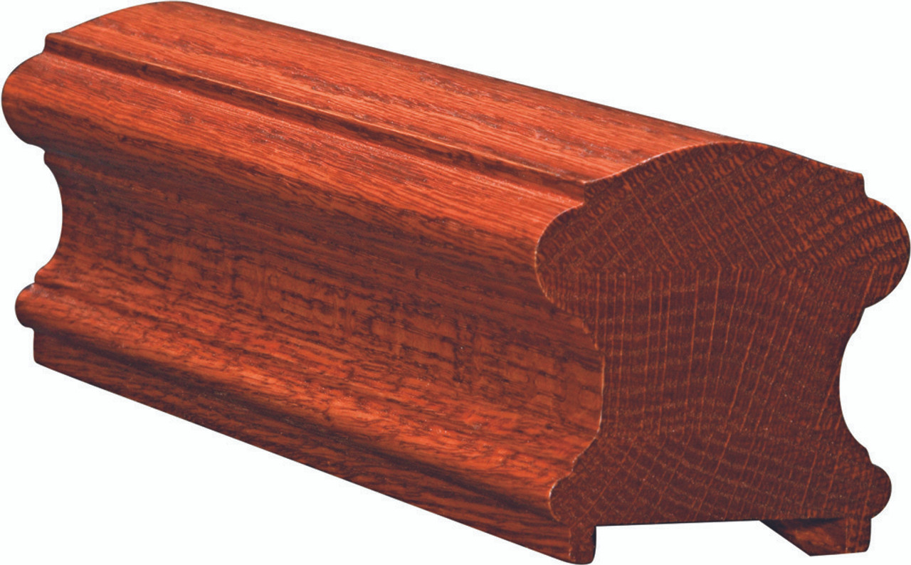 6710P Mahogany Plowed Handrail