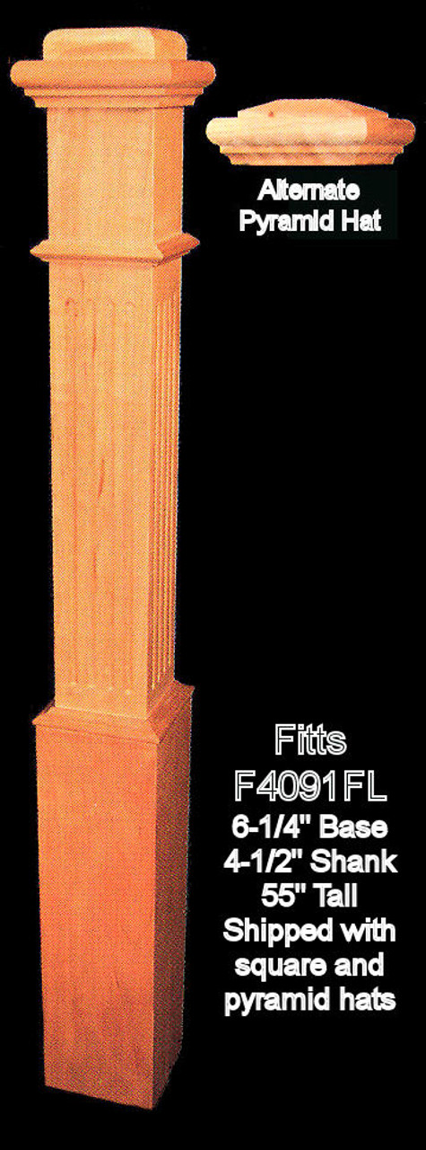 """F4091-F Fluted 55"""" Box Newel Post 2"""