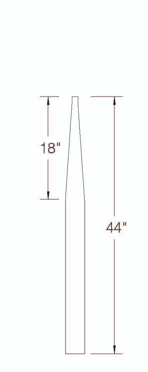 313 PT Stabilizer Newel Dimensional Information