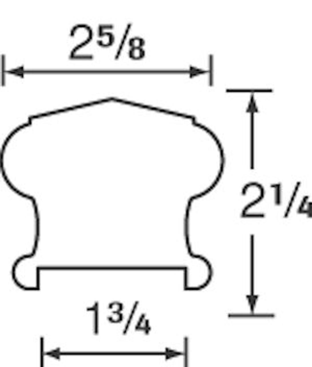 6310P Plowed Handrail Dimensional information