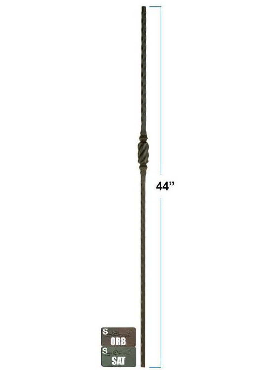 2766 Single Beehive Hammered Baluster