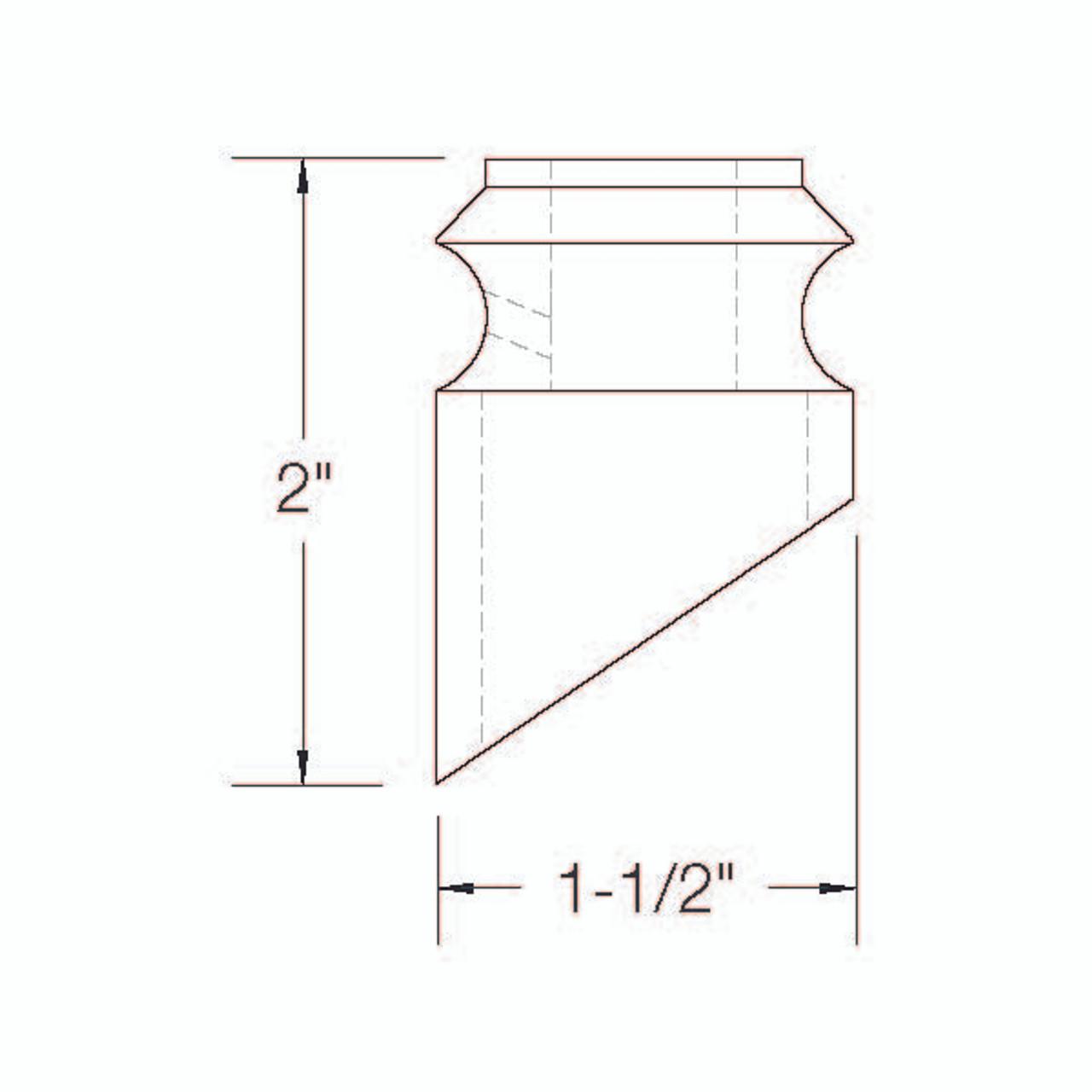 SD504R Slanted Shoe Dimensional Information