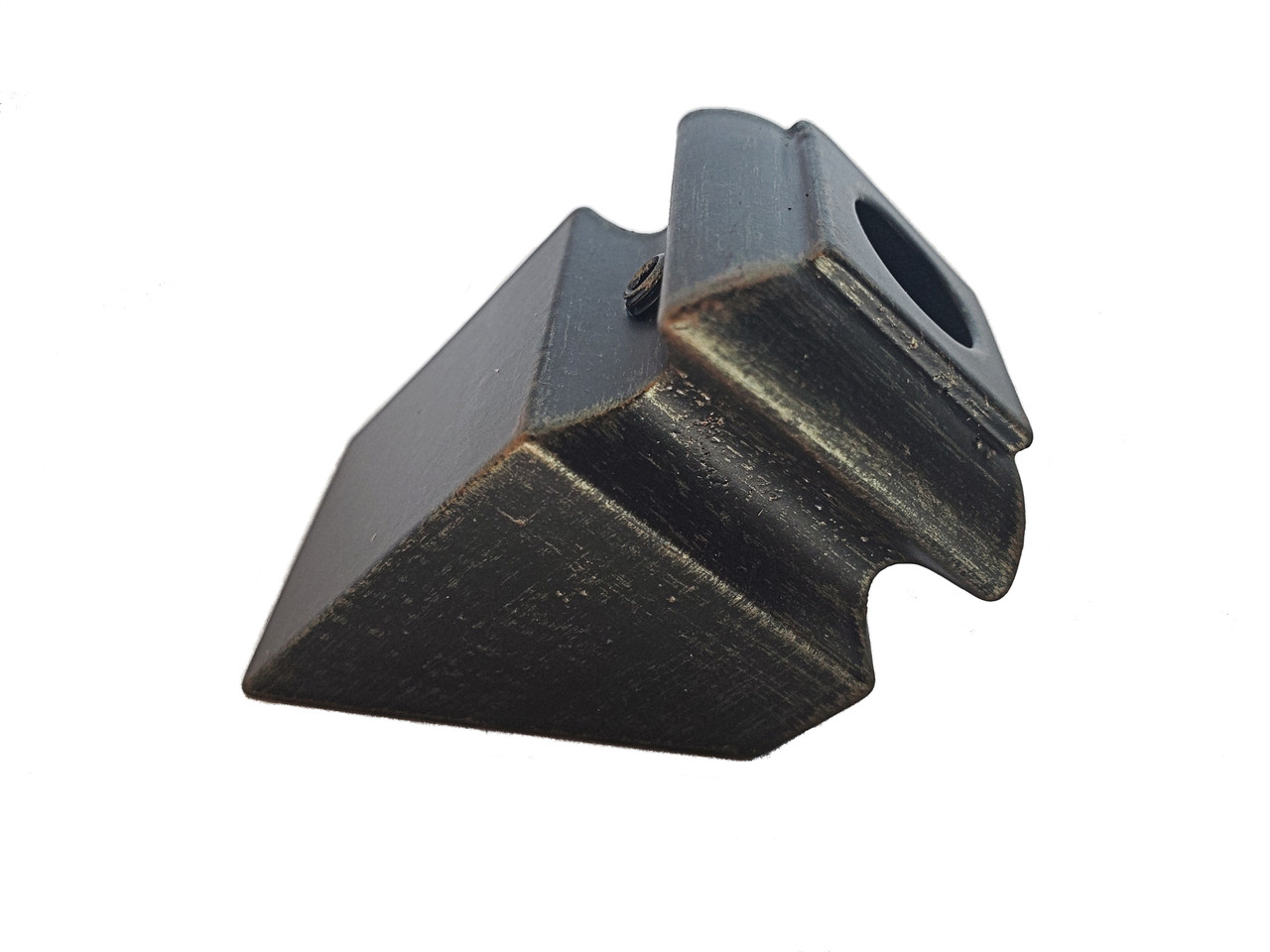 SHR904 12mm Slanted Shoe with Set Screw shown in Rubbed Bronze
