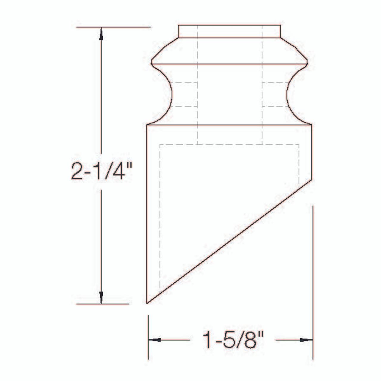 SHR904 12mm Slanted Light Shoe with Set Screw