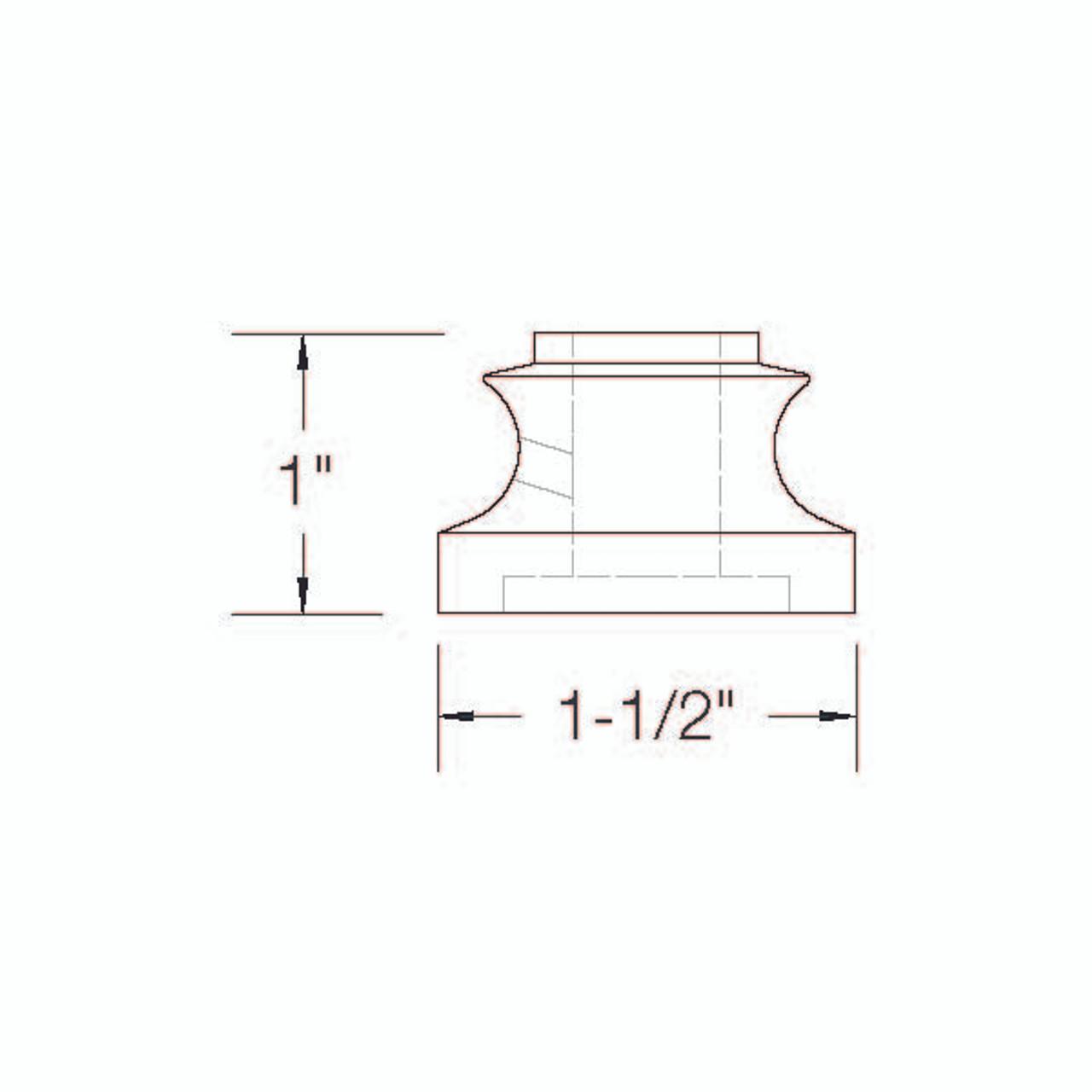 SHR900 12mm Flat Light Shoe with Set Screw