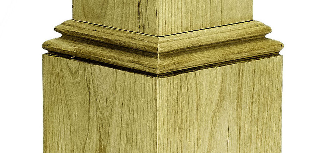 DMLD Skirt Molding Example, attached to newel sleeve