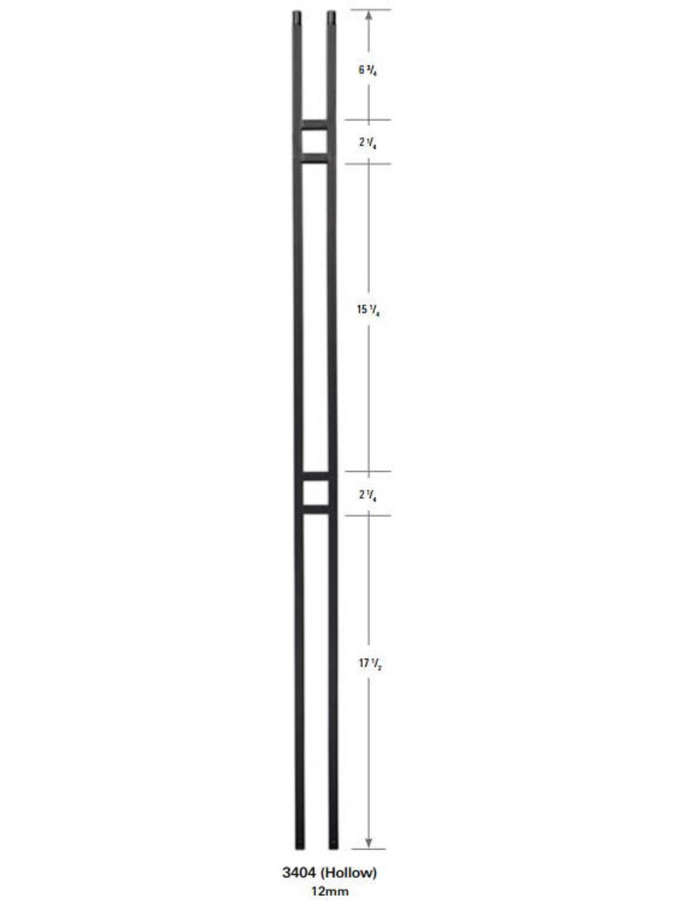 3404 Double Bar Forma Baluster