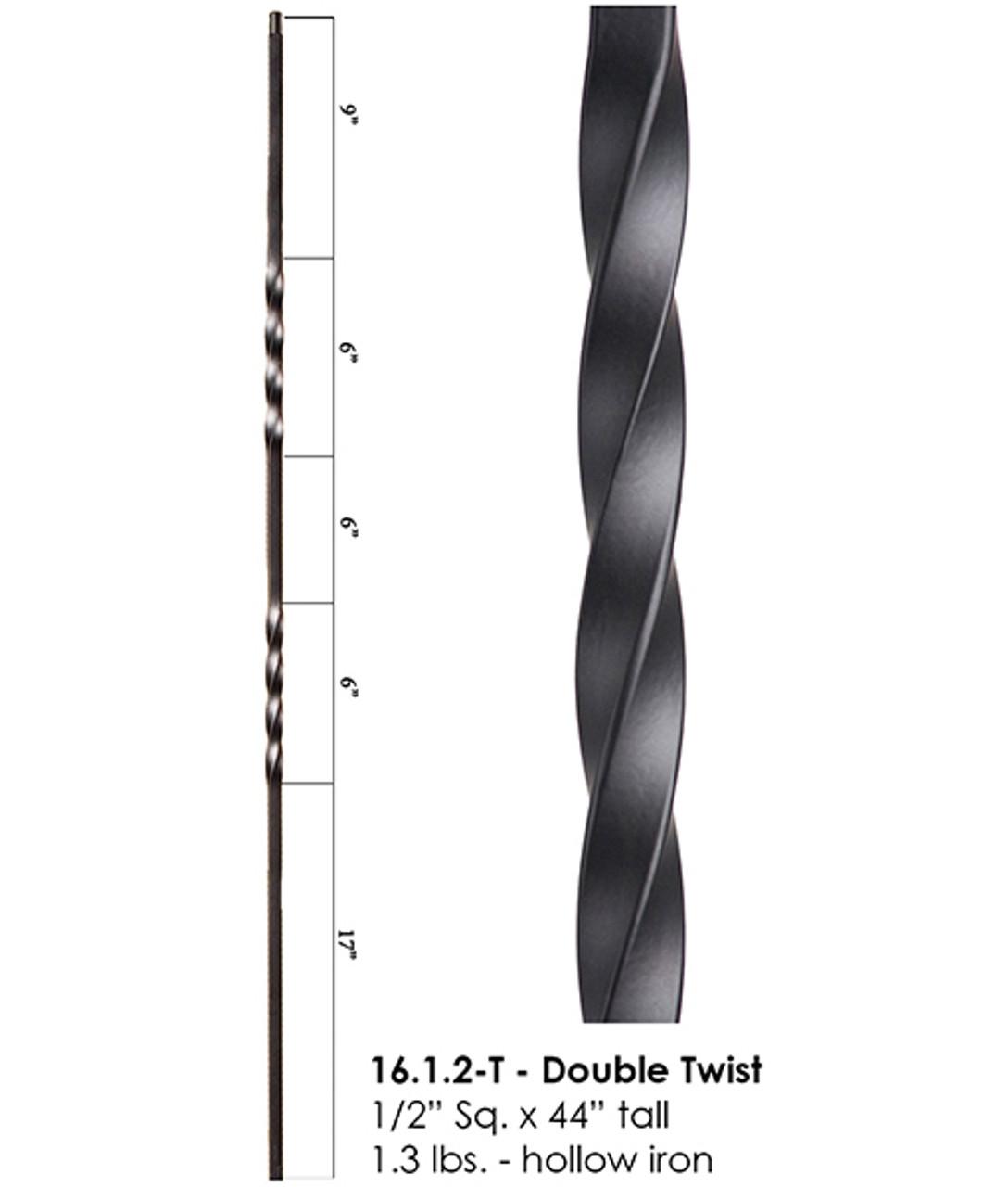 HF16.1.2-T Double Twist Tubular Steel Baluster
