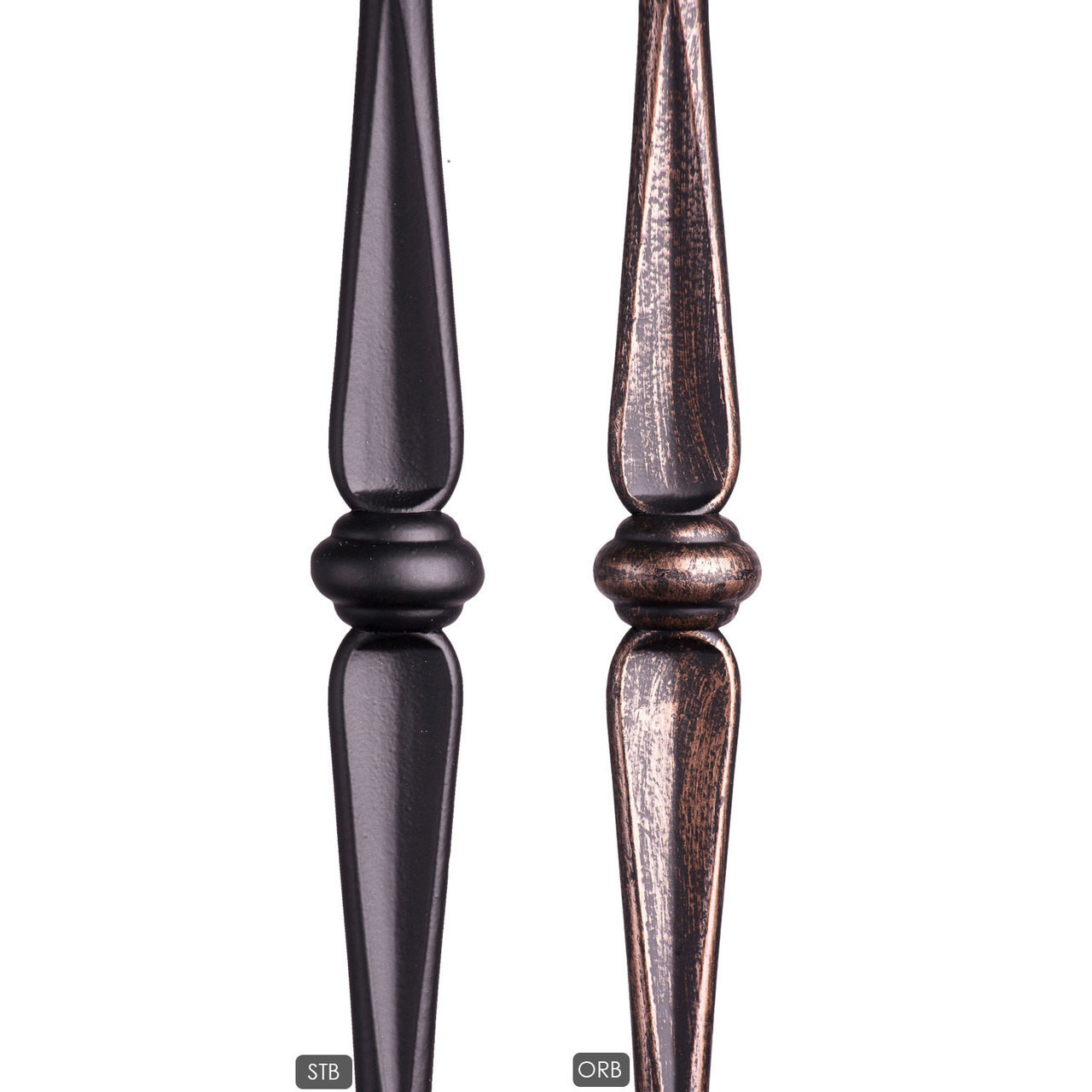HF2.11.4 Tubular Round Double Knuckle available in satin black and oil rubbed bronze powder coatings.