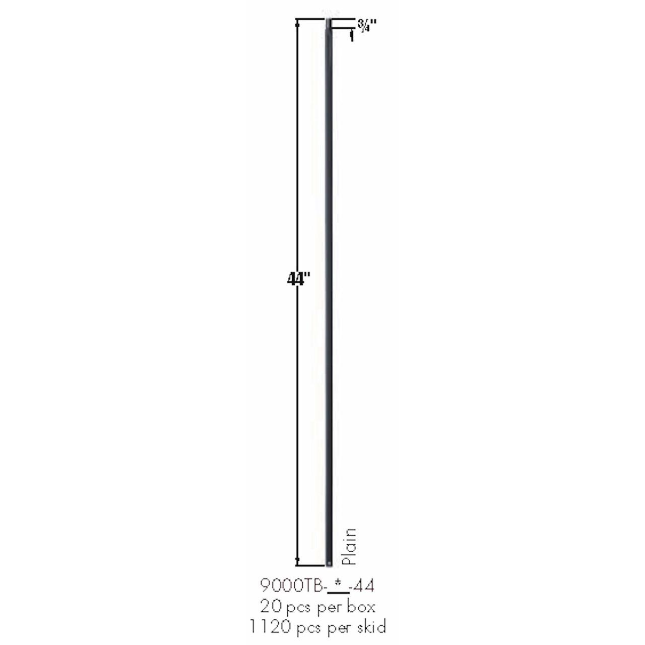 9000TB Plain Square Bar Tubular Steel Dimensional Informations