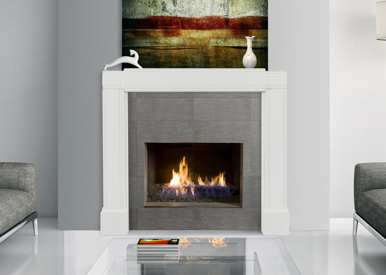 The 201 Emory Adjustable White Fireplace Mantel Surround Westfire