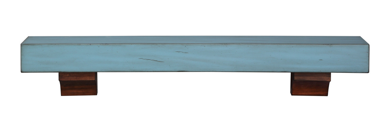 """Front View, The 412-48-26 Shenandoah Shelf, 48"""" Riviera Distressed"""