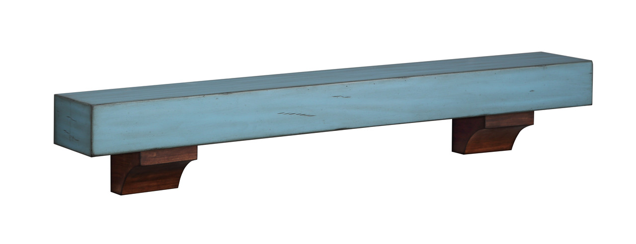 """The 412-48-26 Shenandoah Shelf, 48"""" Riviera Distressed with corbels"""