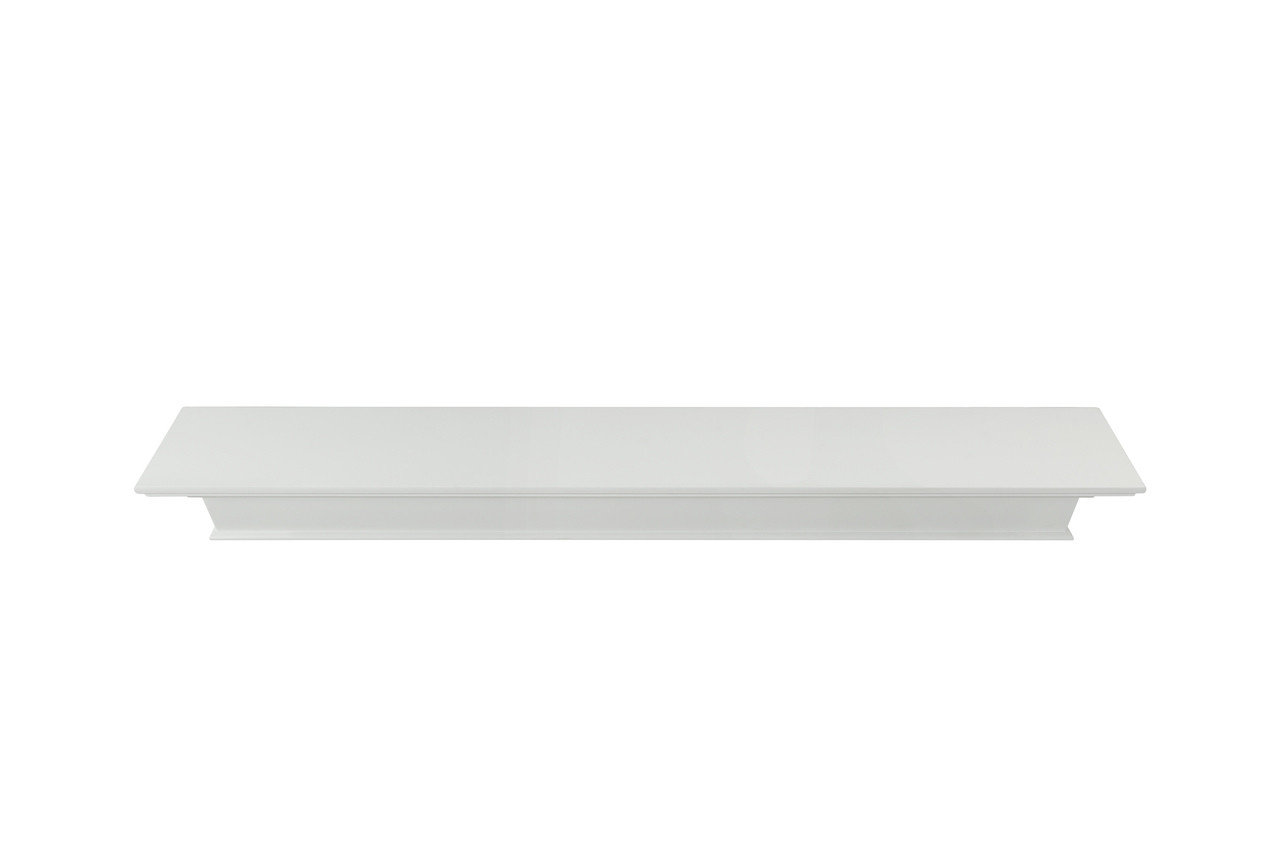 The Henry MDF Mantel Shelf, Painted White, Top View