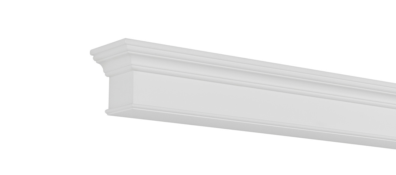 The Henry MDF Mantel Shelf, Painted White